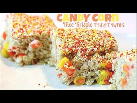 Candy Corn Rice Krispie Treat Bars Recipe
