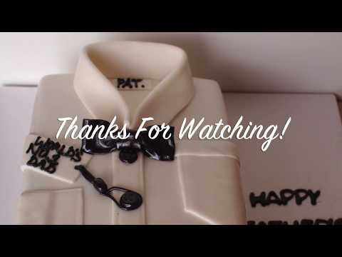 How to make a shirt cake :: Father's Day cake