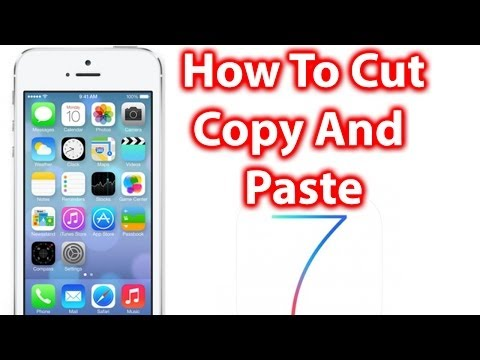 How To Cut, Copy And Paste iOS 7 - iPhone 5s/5c, iPad and iPod Touch