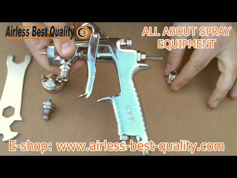 Maintenance of a spray gun: replacing cap, nozzle and needle