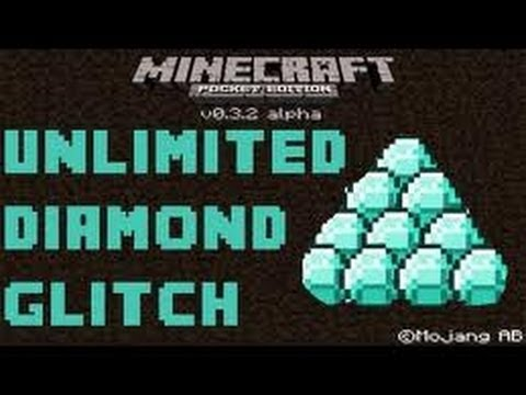 HOW TO GET DIAMONDS in- minecraft pe 0.8.1  &  0.9.0