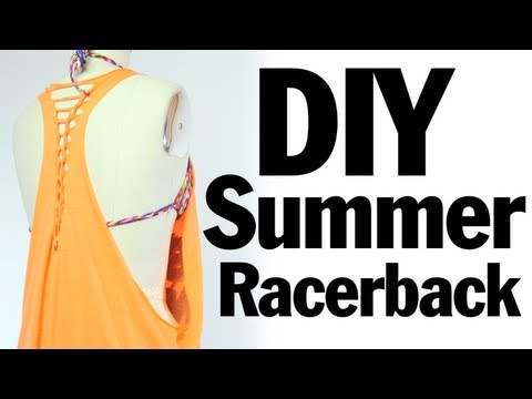 DIY Racerback Muscle T-shirt Recon, Summer Music Festival Fashion