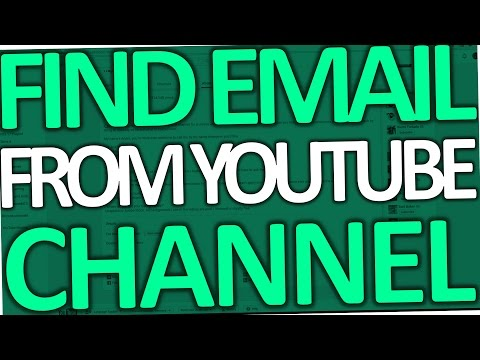 How to Find out Someone's Email Address on Youtube (Channel - 2017)