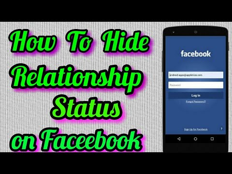 How To Hide Relationship Status On Facebook In Mobile