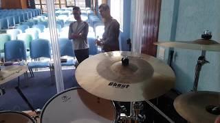 Testando Setup Para culto a noite - Arborea cymbals e Odery drums