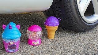 Crushing Crunchy & Soft Things by Car! - EXPERIMENT: CAR VS CRUNCHY TOYS