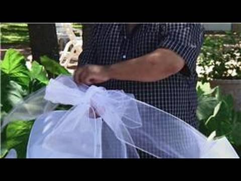 Wedding Ceremony Decorations : Making Pew Bows