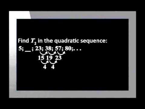 Quadratic Number Patterns
