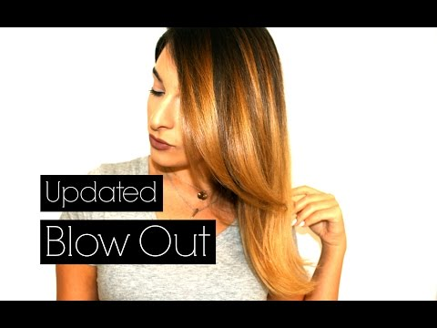 How to blow out one length hair | blunt cut