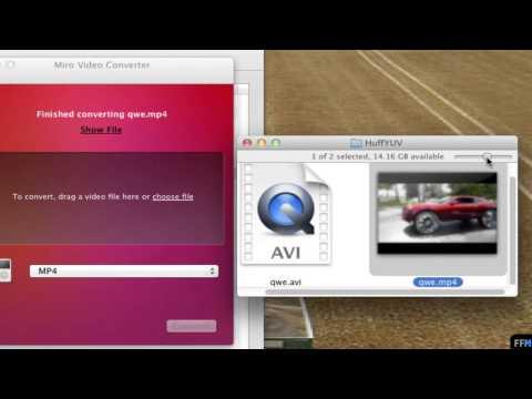 Convert HuffYUV in .AVI to .MP4 Free on Mac