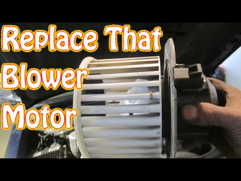 DIY How to Replace a Noisy Heater \ AC Blower Motor on a Chevy Blazer S10 GMC Jimmy