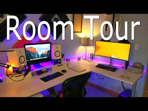BEST Geek Room Tour with Desk and Gaming Setup! - JrTech Late 2016