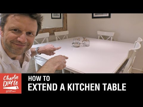 How to Extend Your Kitchen Table