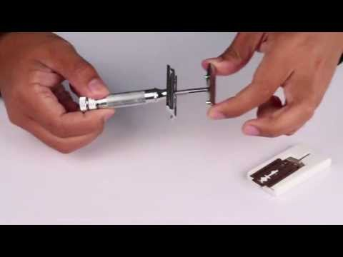 How to change blades for a Merkur 34C Safety Razor