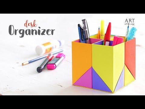 Creative DIY Desk Organizer For Kids | Back To School