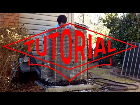 HVAC Service: How to Clean a Trane Air Conditioner Spine Fin Coil.