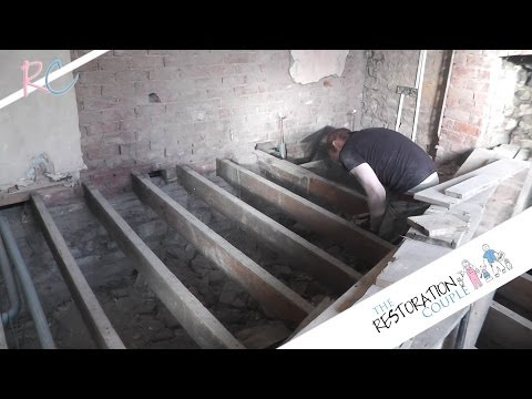 Removing, Insulating and Restoring a Suspended Wooden Floor. Part 2 of 3
