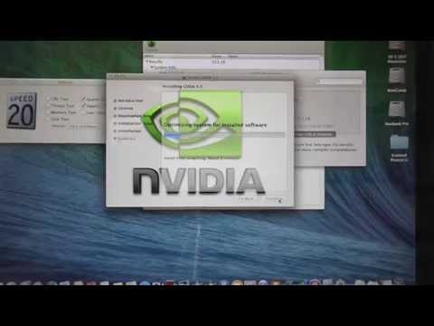 How to update nVidia drivers on a Mac