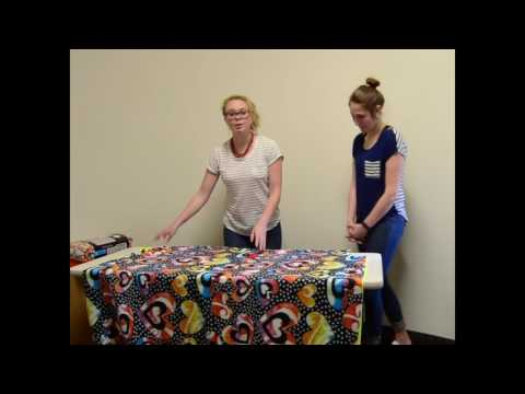 How to make a Camp Noah Tie Blanket