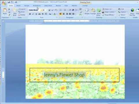 How to Create Web Banners & Print Graphics in PowerPoint 2007
