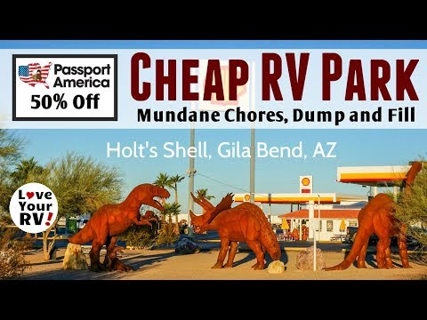 Boondocking Break *Cheap* RV Park Stopover in AZ for Mundane Chores, etc (Passport America)