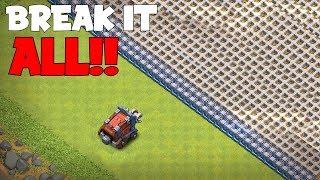 "WALL WRECKER VS. ALL WALLS!! ""Clash Of Clans"" SIEGE TROLL BOX"