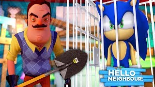 Minecraft HELLO NEIGHBOR - THE NEIGHBOUR HAS KIDNAPPED SONIC & TIED HIM UP IN HIS BASEMENT!!