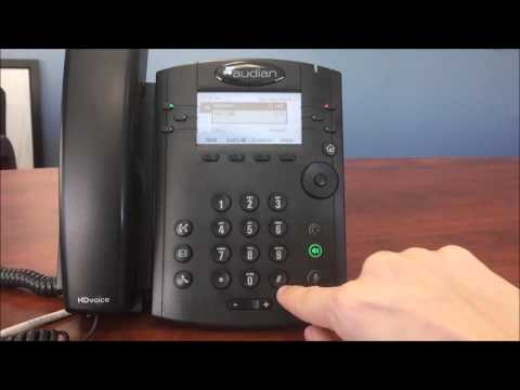 How To Setup Voicemail - VVX300