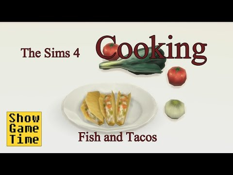 [The Sims 4] Cooking Scene - Fish Tacos