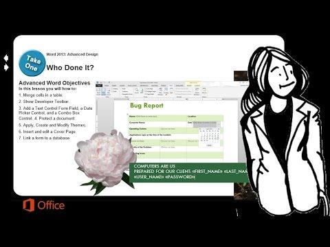 Microsoft Word 2013 Advanced: Form Design