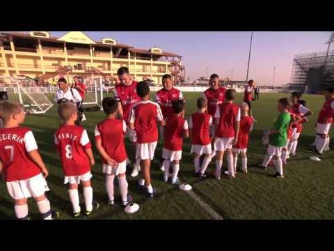 Arsenal Player Visit   Arsenal Soccer Schools Dubai   Emirates Airline