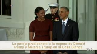 Los últimos minutos de Barack Obama en la Casa Blanca