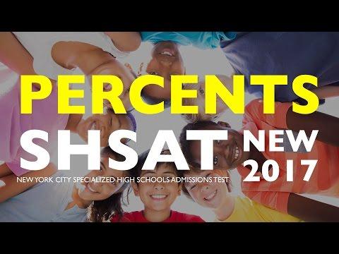 SHSAT Math: Percents | Specialized High School Exam | New York City | SHSAT Exam Prep