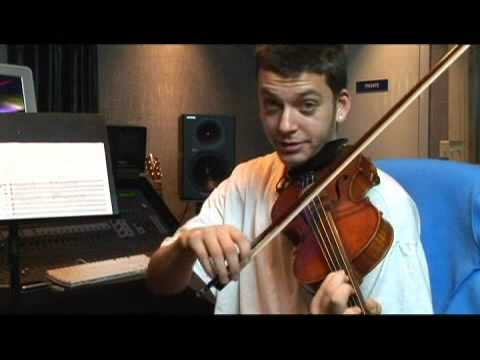 Playing Violin in A Flat Major