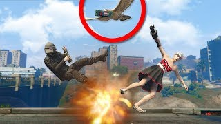 Using STICKY BOMBS While Playing As ANIMALS ONLINE! | GTA 5 THUG LIFE #274