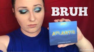 atlantis palette by face candy | shop hush review | makeup