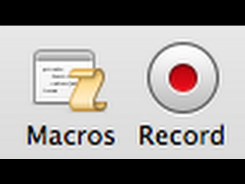 Macro buttons Excel Mac 2011
