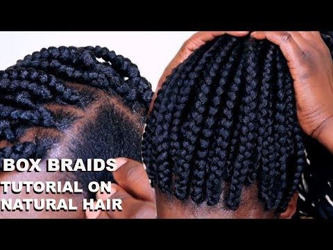 HOW TO BOX BRAID TUTORIAL ON TWA HAIR