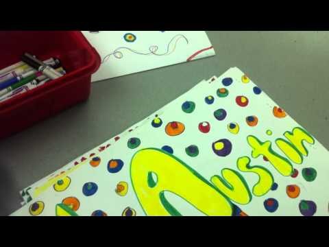 First Elementary Art Lesson of the Year: Portfolio Design
