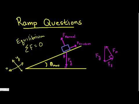 coefficient of static friction from  ramp equilibrium .mp4