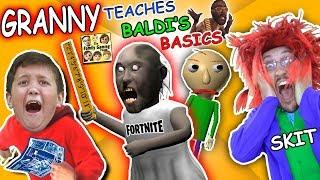 GRANNY the SCHOOL TEACHER! BALDI