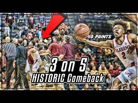 This COLLEGE Team Played With 3 PLAYERS In HISTORIC COMEBACK In NCAA Classic! | Collin Sexton 40PTS