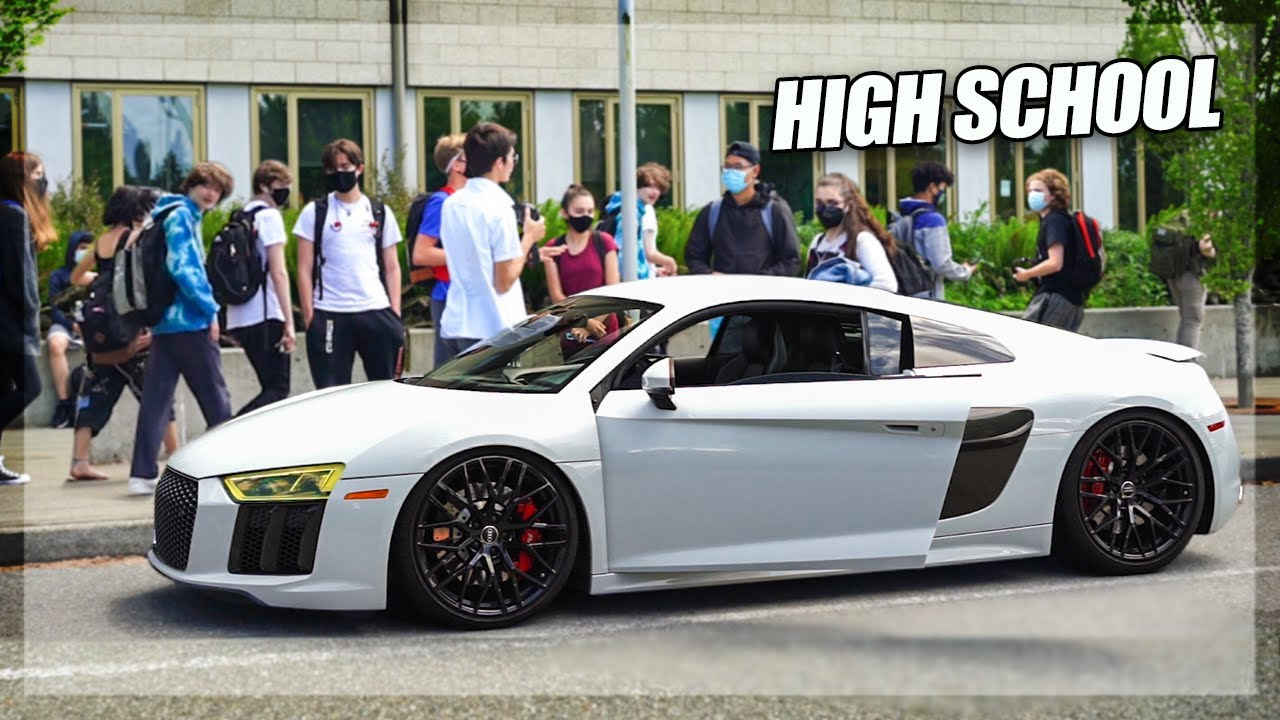 Taking my Audi R8 to The Last Day of High School