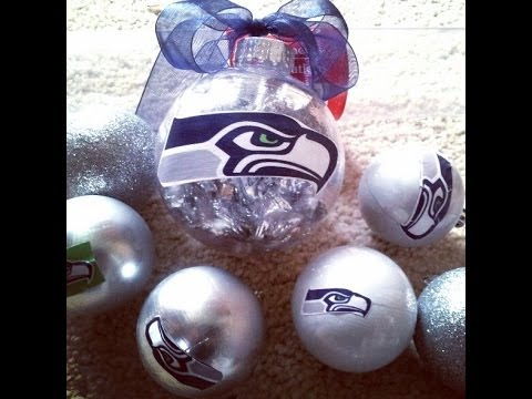SEATTLE SEAHAWKS Easy DIY Christmas Ornament NFL Inspired