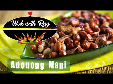 How to cook Adobong Mani (Garlicky Fried Peanuts) by Wok with Ray