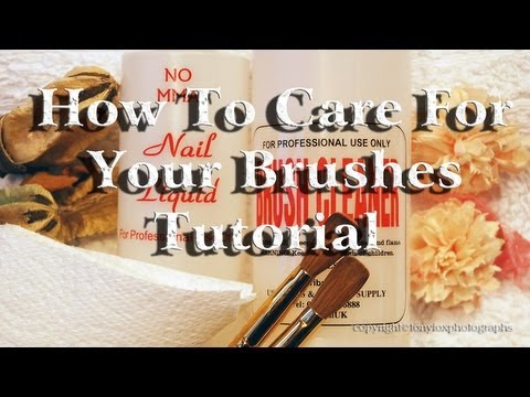 How To Care For Your Brushes Tutorial. Nails Of Promise.
