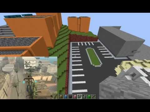 Minecraft GTA San Andreas Build. Entire Map is 1-to-1 Scale. 36sq km. Ep 1