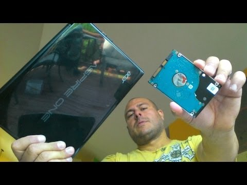 Acer aspire one Hard drive replace in 2 minutes