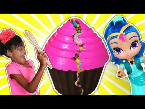 Bashing 3 Giant Chocolate Cupcake Surprise Eggs! With Shopkins and MLP | Naiah and Elli Toys Show
