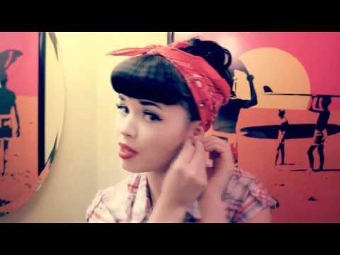 Rosie the Riveter hair tutorial by Susie Brown of the JaneDear girls